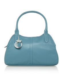 Fulham blue large leather tote bag