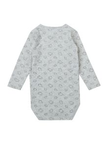 Babys Wrapbody Top With Elephant