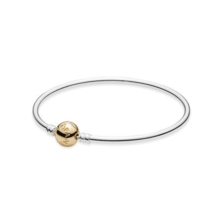 Pandora Silver bangle with 14k clasp