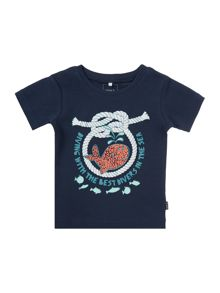 Boys Short Sleeved T-Shirt With A Whale