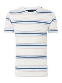 Criminal Jules Multi Stripe Short Sleeve Graphic Tshirt