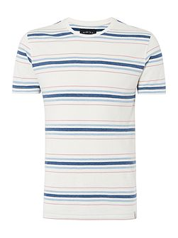 Men's Criminal Jules Multi Stripe Short Sleeve Graphic