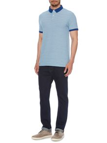 Alex Pique Striped Polo Shirt