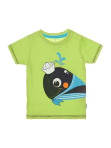 Boys Short Sleeved Top With Fish