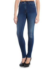 High waist skinny carrie jean in mid wash