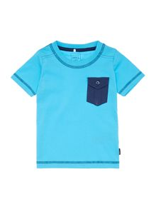 Boys Short Sleeved T-Shirt With A Contrast Pocket