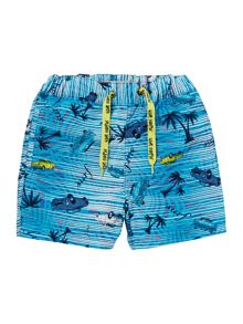 Boys Beach Print Shorts