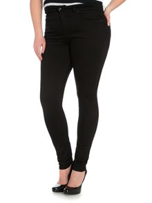 High waist skinny carrie jean in black