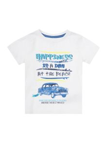 Boys Short Sleeved T-Shirt With Car Print