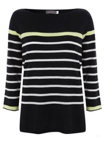 Stripe Lime Tipped Knit