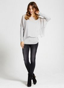 Dove Stud Double Layer Top