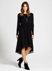 Black Knitted Top Dress
