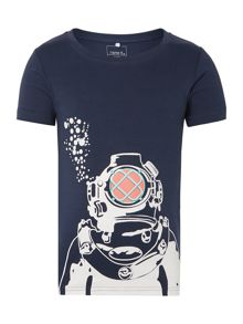 Boys Short Sleeved T-Shirt With A Diver