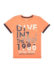 name it Boys Short Sleeved Dive Into The Deep T-Shirt