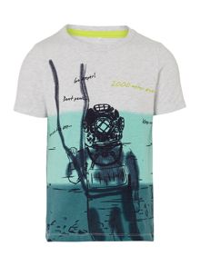 Boys Short Sleeved Diver Gradient T-Shirt