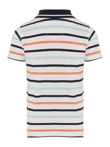 Boys Short Sleeved Polo With Stripes