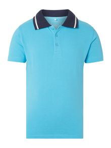 Boys Short Sleeved Polo With Embroidery
