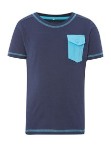 Boys Contrast Pocket Short Sleeved Tshirt