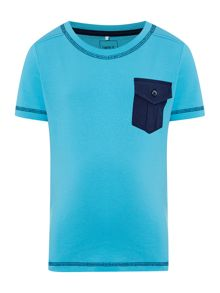 name it Boys Contrast Pocket Short Sleeved T-Shirt