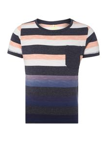 name it Boys Short Sleeved Striped Top With Pocket