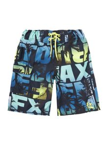 Boys Swim Shorts With Text Print