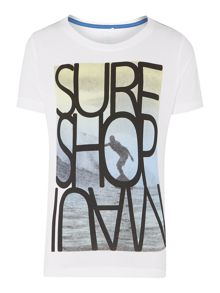Boys Short Sleeved Surf Top