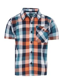 Boys Short Sleeved Check Shirt