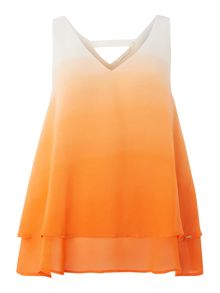 SL v neck with layer top