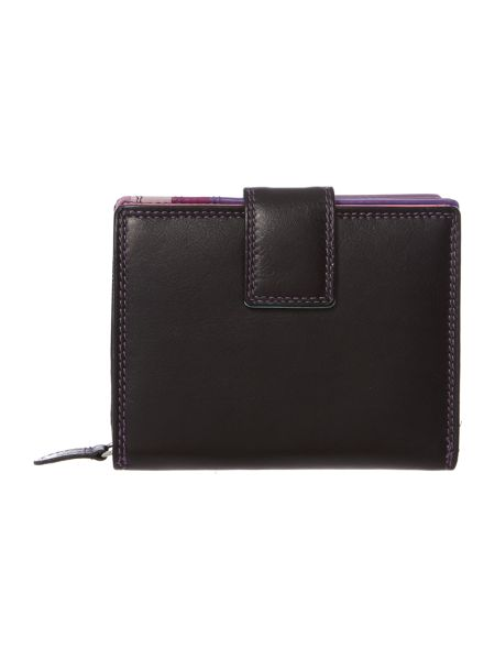 Golunski Black medium leather flapover purse