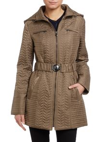 Dawn Levy Green quilted ladies jacket