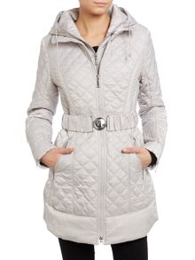 Black quilted ladies jacket