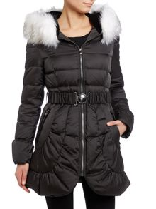 Black down ladies jacket