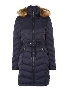 Blue down ladies jacket