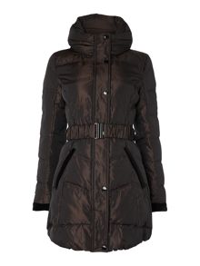 Dark bronze ladies down jacket