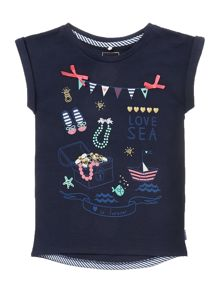 Girls Short Sleeved Sea Life Tshirt