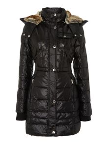 Black ladies wellon filled coat
