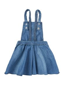 name it Girls Denim Overalls