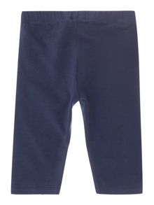 Girls capri leggings in navy