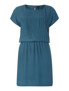Y.A.S. Shortsleeved waisted pleat dress
