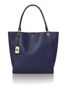 Navy large aiden tote bag