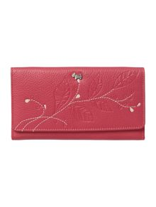 Laurel leaf pink large trifold matinee purse
