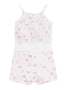 Girls Heart Printed Playsuit