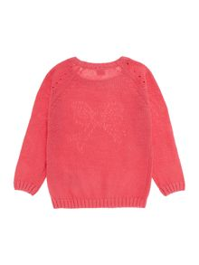 Girls Knitted Jumper With Ribbon Detail