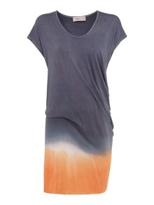 Dip Dye Jersey Vee Dress