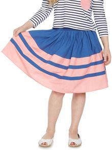 Little Dickins & Jones Girls Contrast Panel Skirt
