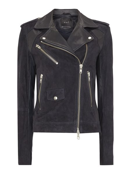 Oui Leather and Suede jacket