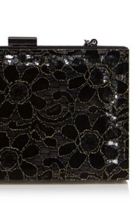 Lace box clutch