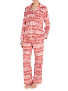 Fairisle fleece pj set