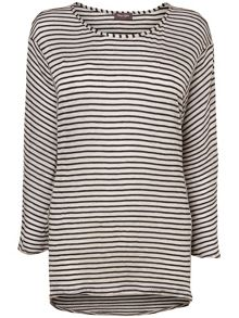 Candace cutabout stripe top