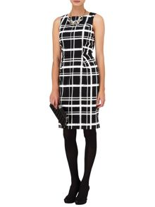 Greta checked shift dress